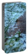Snowy Leaf Portable Battery Charger