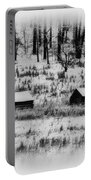 Snowy Log Cabins At Valley Forge Portable Battery Charger