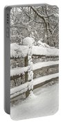 Snowy Morning Portable Battery Charger