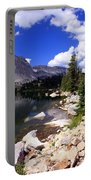 Snowy Mountain Lake Portable Battery Charger