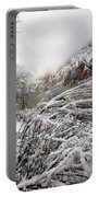 Snowy Mountains In Zion Portable Battery Charger