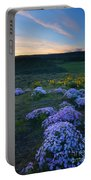 Snowy Phlox Sunset Portable Battery Charger