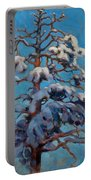 Snowy Pine-tree Portable Battery Charger