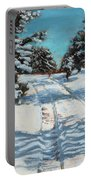 Snowy Road Home Portable Battery Charger