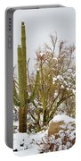 Snowy Saguaro Portable Battery Charger