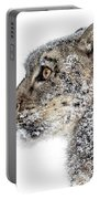 Snowy Snow Leopard Portable Battery Charger
