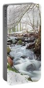 Snowy Stream Landscape Portable Battery Charger