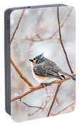 Snowy Titmouse Portable Battery Charger