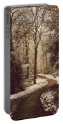 Snowy Woodland Walk One Portable Battery Charger
