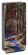 Snowy Woods Portable Battery Charger
