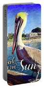 Soak Up The Sun Quote, Cute California Beach Pier Pelican Portable Battery Charger