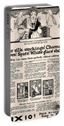 Your Silk Stockings Vintage Soap Ad Portable Battery Charger