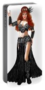 Sofia Metal Queen. Black Metal. Bellydance Star Fashion Portable Battery Charger