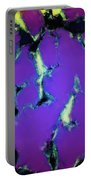 Soft Blue Shatter Portable Battery Charger
