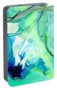 Soft Green Art - Gentle Guidance - Sharon Cummings Portable Battery Charger