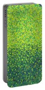 Soft Green Wet Trees Portable Battery Charger