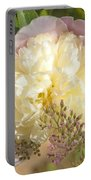 Soft Pink Peony Photography Portable Battery Charger