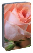 Soft Pink Rose Portable Battery Charger