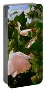 Soft Pink Rose Of Sharon Portable Battery Charger