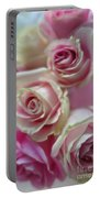 Soft Pink Roses Portable Battery Charger