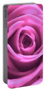 Soft Touch Pink Rose Portable Battery Charger