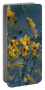 Softly Yellow And Blue Portable Battery Charger