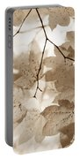 Softness Of Brown Maple Leaves Portable Battery Charger