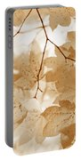 Softness Of Rusty Brown Leaves Portable Battery Charger