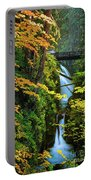 Sol Duc Falls In Autumn Portable Battery Charger