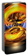 Solar Flare Abstract Portable Battery Charger