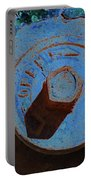 Solarized Rusty Fire Hydrant Portable Battery Charger