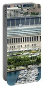 Soldier Field Stadium In Chicago Aerial Photo Portable Battery Charger
