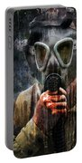Soldier In World War 2 Gas Mask Portable Battery Charger