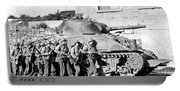 Soldiers And Their Tank Advance Portable Battery Charger