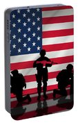 Soldiers On American Flag Portable Battery Charger