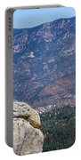 Solitary Pine On Promontory Portable Battery Charger