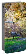 Solitude Under The Sycamore Portable Battery Charger by Carol Groenen