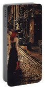 Soloist - Solitary Woman With Violin Portable Battery Charger