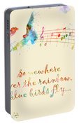 Somewhere Over The Rainbow Portable Battery Charger
