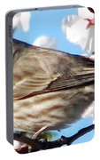 Song Sparrow Dining Out Portable Battery Charger