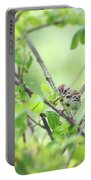 Song Sparrow With Dinner Portable Battery Charger