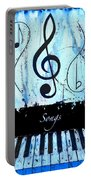 Songs - Blue Portable Battery Charger
