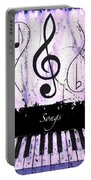 Songs - Purple Portable Battery Charger