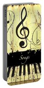 Songs - Yellow Portable Battery Charger