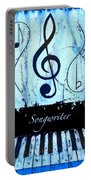 Songwriter - Blue Portable Battery Charger