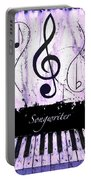 Songwriter - Purple Portable Battery Charger