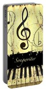 Songwriter - Yellow Portable Battery Charger