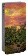 Sonoran Desert Sunset Op46 Portable Battery Charger