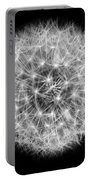 Soul Of A Dandelion Black And White Portable Battery Charger