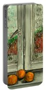 Sound Of Rain  Oil Painting Portable Battery Charger
